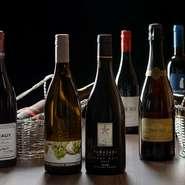 お食事に相性のよいワインを多数取り揃えております。