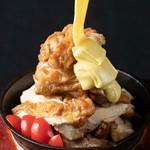 悪魔のチキンチーズタワーを食べ放題♪3時間飲み放題付きの場合はコース価格に+980円でお楽しみ頂けます!
