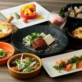 京都ならではの食材を使った、オリジナルの地中海料理が美味しい
