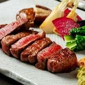 舌の上でとろけていく肉にうっとり。A4ランク以上の山形牛に舌鼓