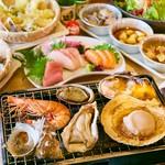 選べるメインはサムギョプサルor浜焼きの食べ放題で満腹&満足間違いなし!