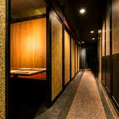 プライベートな時間を大切にできる、扉付きの完全個室