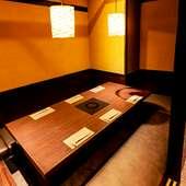 おもてなしに相応しい、落ち着きのある和の個室と贅沢なコース