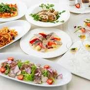 旬の食材を使用した特別なプランです。 3種類からお選びください