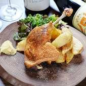 鴨の美味しさそのまま。シンプルに焼いた『鴨もも肉のコンフィ』