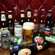 多種多様に取り揃えたお酒の中でも特におすすめなのがビール。オールドアメリカンな雰囲気にピッタリの輸入ビールや話題のクラフトビールなど、種類も豊富です。こだわりの肉料理にビールの爽快感がよく合います。