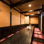 最大20名様までの個室空間が可能。飲み放題付きコースもご用意