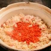 一合から注文可。炊きたてのご飯と季節の具材のおいしさを満喫できる『季節の土鍋炊きご飯』