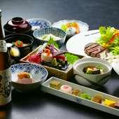 静岡の地酒を中心に全国の銘酒をご用意。日本料理に合うワインも