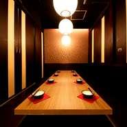 テーブル席、掘りごたつ席完備♪落ち着いた雰囲気の2名様~個室をご準備しております★