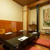 ビジネスシーンでの食事におすすめ。落ち着いた個室空間