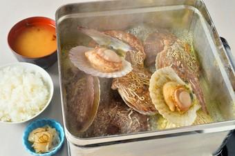 北海道産帆立を陶板焼きで100分味わう人気メニュー たらこ・明太子も食べ放題
