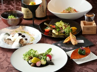 大和野菜に特化、動物性食材を全く使用していない健康志向のコースが誕生!精進フレンチをお楽しみください