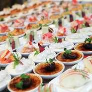 冷製料理 9種270個(30名の場合)うみだす迫力感。 ハーモニー感じるスマートなフランス料理で構成。