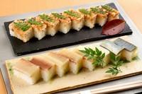 これが名物。季節ごとに全国から仕入れる身厚なサバ・サワラを味わう『押し寿司』