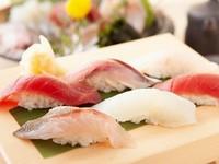 千葉県産の米のシャリと旬のネタで江戸前寿司を味わう『握り盛り合わせ』