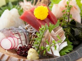 魚介の品質・鮮度に自信あり。上質素材を吟味した「旬の鮮魚」
