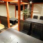 清潔感あふれる和み空間で、リラックスしながら食事を堪能する