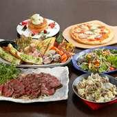 Piccoloのご宴会コース ※画像:ポンドUPステーキコース