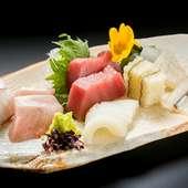 新鮮魚介のお造りや寿司を良心的な料金で満喫