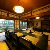 35名まで使える和室があり、仕切れば少人数にも対応