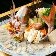 料理に使用されているのは、瀬戸内海の魚介や地元の野菜など、岡山でとれた食材が中心。岡山の豊かな自然の中で育まれた旬の素材を、新鮮なまま懐石などの料理に仕立ててくれます。