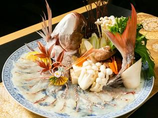 瀬戸内海の鮮魚と岡山産季節の野菜をふんだんに使用