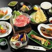 季節感豊かな日本料理から肉料理まで揃う『花コース』