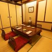 用途に合わせて使える、さまざまな個室を完備