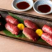 新鮮な桜肉を寿司で味わえる、贅沢さが魅力『寿司盛合せ 四種』