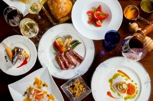 ギリシャ産オリーブオイルと自家製のガーリックチップ