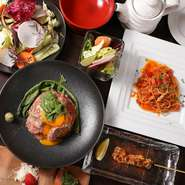20名前後でのパーティ―利用も歓迎。料理のみのコースは3000円より、飲み放題追加やワンフロア貸し切りといった相談も可能です。創作イタリアンでカジュアルにパーティー。まずは店舗にお問合せを。