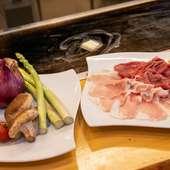 地元で採れた新鮮野菜やこだわりの豚肉をシンプルに味わう『焼しゃぶしゃぶ』