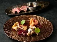 黒毛和牛A5、神戸牛を堪能する数量限定のスペシャルコース。3名以上で飲み放題オプションを追加できます。