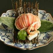 当店では蟹料理に力を入れております。