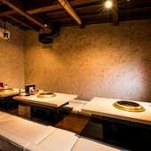12名まで収容可能な完全個室