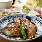 お昼限定!串本名産、梅マダイのカブトの煮つけが主役の『潮彩御膳』