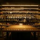 仙台駅から少し離れたビルの地下1階。ワイン好きの食通が集う店