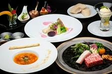 県産魚のポワレと厳選国産牛ステーキ・デザート等全5品