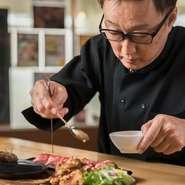 「和牛は高いというイメージありますが、当店ではリーズナブルな価格で提供しています」という浅瀬石氏。素材の持ち味を活かして丁寧に下処理をし、余った部位を『牛スジの煮込み』などで提供してくれます。