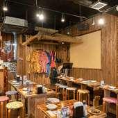 気心知れた仲間や家族と、のんびり過ごせる沖縄料理店