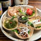 宮古島の食の魅力を堪能できる『珍味盛り合わせ』