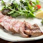 極上の美味しさを満喫できる、A5ランクの『宮古牛リブステーキ』
