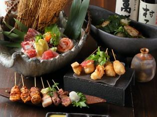 串カツも串焼きも堪能できる『串料理メインおまかせコース』