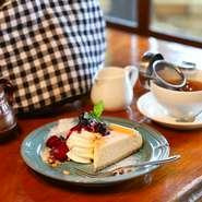 お好きなケーキ+珈琲or紅茶 又はカフェオレ(ハーフサイズ)