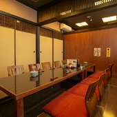 宴会に最適な、2~20名まで対応可能な個室