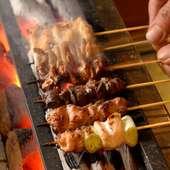 すべて国産鶏肉を使用した、串焼各種