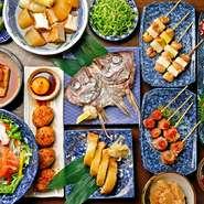 バリエーション豊富な料理が楽しめる各種コースがあり、予算やシーンに応じて選べます。飲み放題付きで幹事も楽ちん。ゆったりとくつろげる個室での宴席が、メンバーの距離を縮めてくれます。