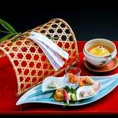 五感で彦根の食文化を味わうことができる『季節の中八寸』