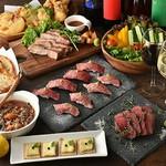 炙り肉寿司や自家製ローストビーフ、チーズフォンデュなど当店人気の料理を余すことなくご用意!